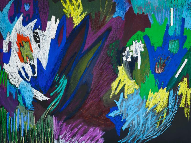 La Collection sort de sa Réserve ! - Exposition Collective : Julie Bessard, Sans titre, 200 x 150 cm, Pastel à l'huile et huile sur toile, 2019