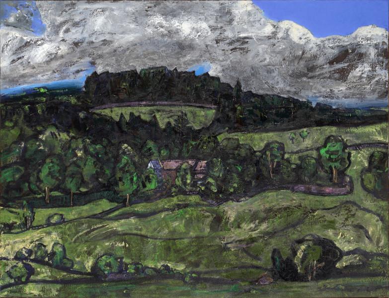 Vincent Bioulès : Le Giraldès IV, huile sur toile, 89x116cm, 2013. Courtesy Galerie Vieille du Temple