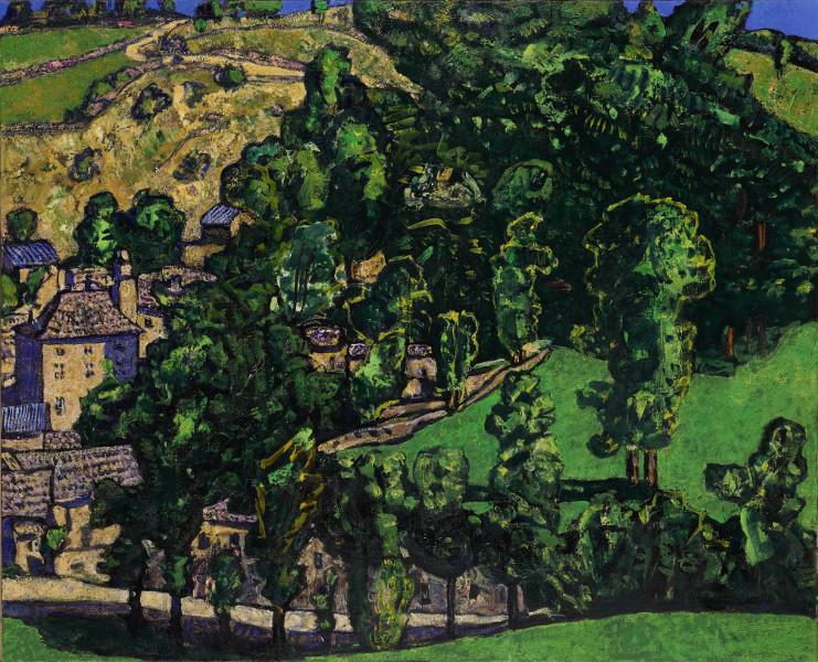 Vincent Bioulès : Laubert, huile sur toile, 81x100, 2012-2013. Courtesy Galerie Vieille du Temple