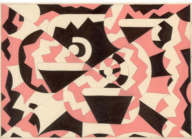 Paul van der Eerden - Bits and Pieces : Paul van der Eerden, Sans titre, 2011 (024), crayon et crayon de couleur sur papier, 21 x 29,7 cm