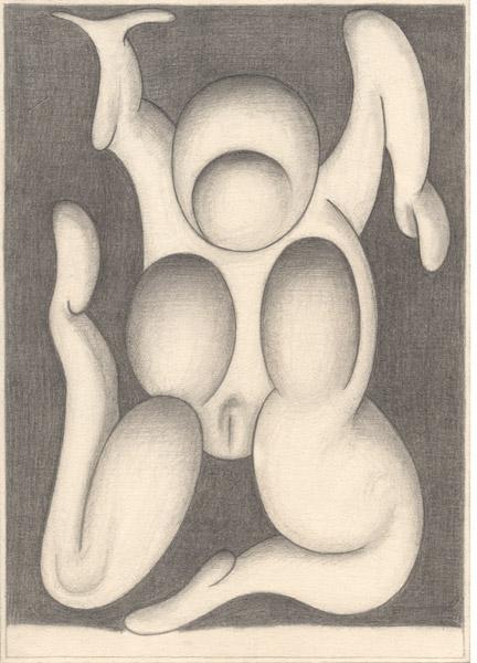 Paul van der Eerden - Bits and Pieces : Paul van der Eerden, Sans titre, 2011 (011), crayon et crayon de couleur sur papier, 21 x 29,7 cm