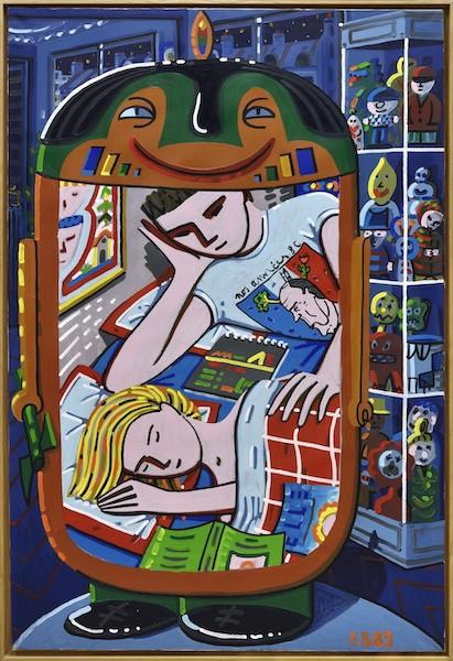 Aux sources des années 1980. Eighties and Echoes. : Francois BOISROND Nos annees 80, 1989 Acrylique sur toile, 195 x 130 cm DG Art Collection, Paris © Rebecca Fanuel