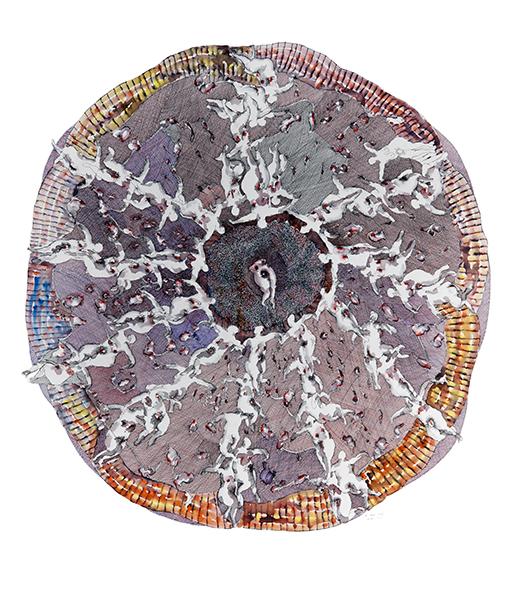 Ernest Breleur. Le vivant, passage par le féminin : Sans Titre. série : l'énigme du désir, 2014. Feutre sur papier. 125 x 125 cm. Courtesy: Maëlle Galerie