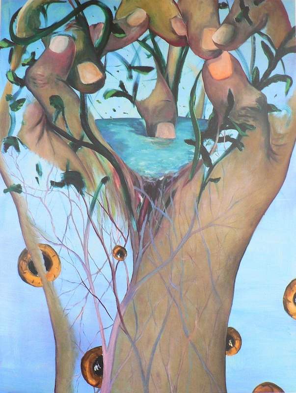 Jörg Langhans – État des lieux : Des mains pour voir, 2008, 2,00 x 1,50 m.