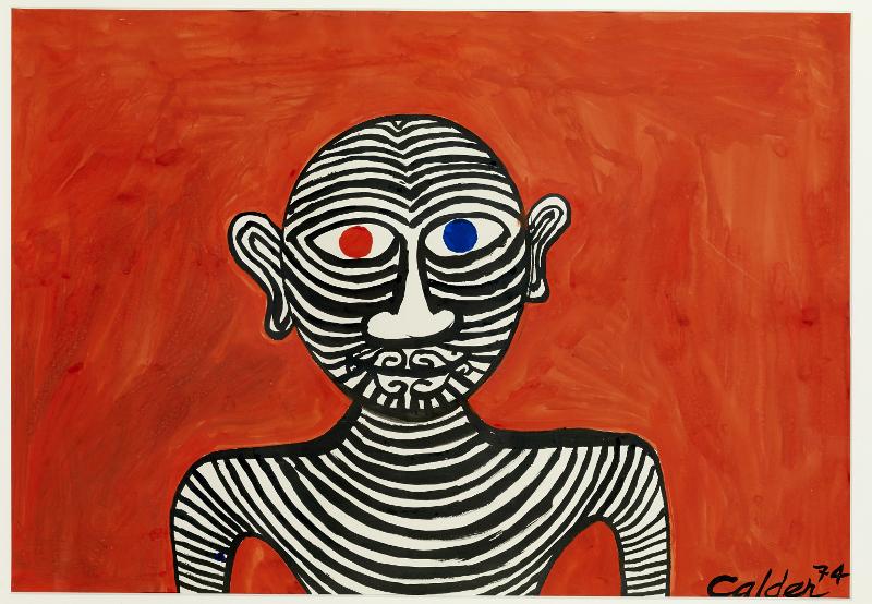 Est-ce ainsi que les hommes vivent ? : Alexander CALDER, Les Deux yeux, 1974. Gouache, 75 cm x 110 cm.