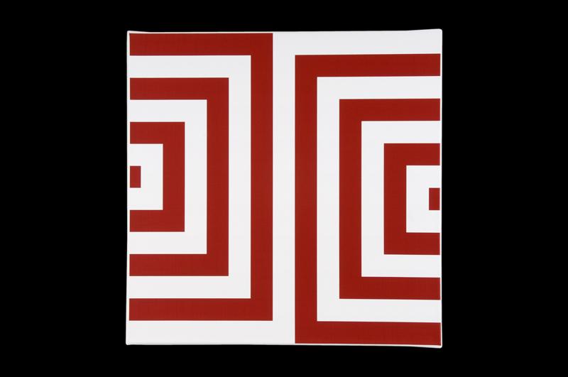 Véra Molnar, 86 : Carrés concentriques rouges, 2010, Photographie : Aurélien Mole, Courtesy galerie TORRI, © ADAGP, 2010