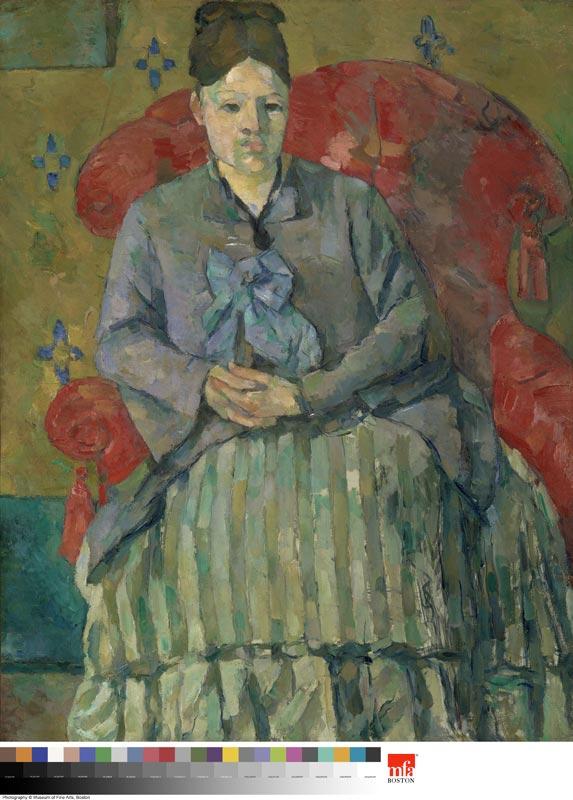 Cézanne et Paris : Mme Cezanne à la jupe rayée