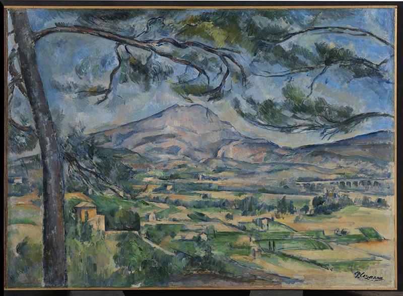 La Collection Courtauld. Le parti de l'Impressionnisme : Paul Cezanne. La Montagne Sainte-Victoire au grand pin, vers 1887. Huile sur toile 66,8 x 92,3 cm © The Courtauld Gallery, London
