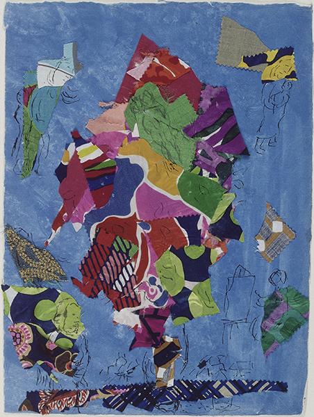 Chagall, Soulages, Benzaken… Le Vitrail contemporain : Marc Chagall. La Paix ou l'Arbre de vie. Maquette de vitrail pour la chapelle des Cordeliers à Sarrebourg (Moselle). 1976-1978. Musée Marc Chagall à Nice, dépôt du Centre Pompidou (MNAM). © ADAGP, Paris, 2015 - Chagall®. © RMN-Grand Palais