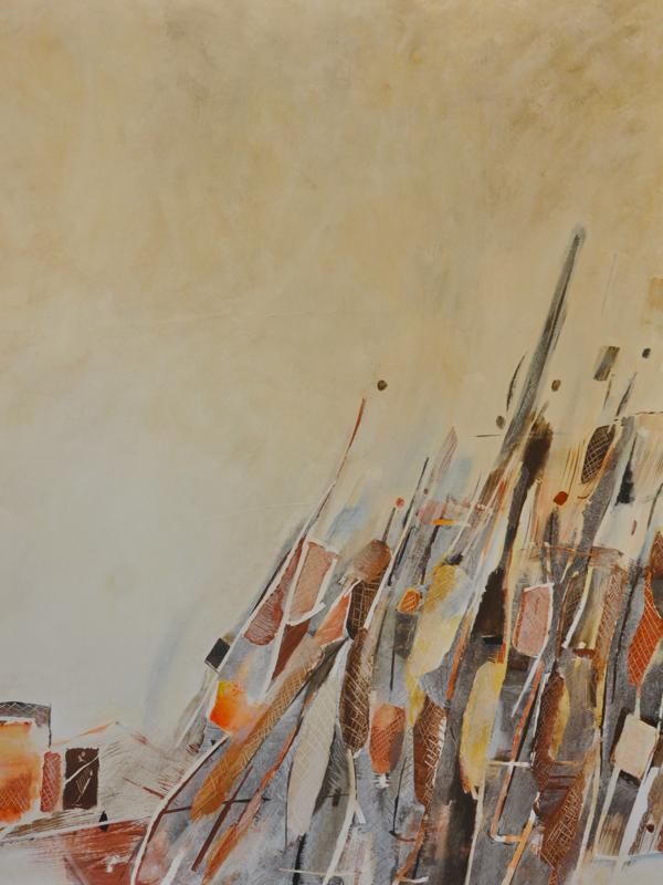 La Collection sort de sa Réserve ! - Exposition Collective : Chantal Charron, En lettres majuscules, 162 x 147 cm, Peinture acrylique-pigment sur toile, 2016
