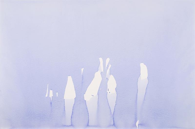 Gabrielle Chiari : Gabrielle Chiari, aquarelles,  2011, aquarelles sur papier, 73 x 110 cm courtesy Galerie Bernard Jordan Paris Zurich