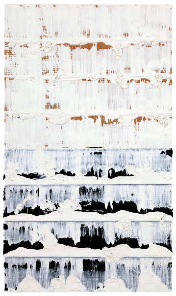 Jacques Clauzel. Donation : Jacques Clauzel Circa 1998, acrylique sur papier kraft plié et usé, 32 x 19 cm
