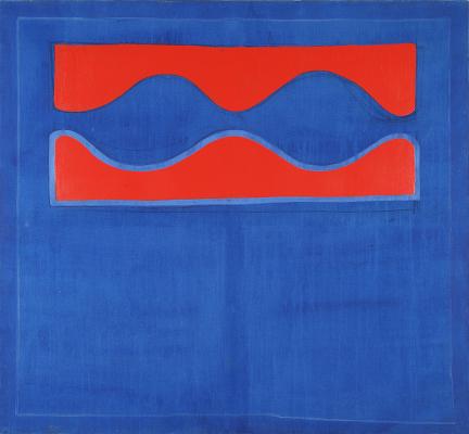 Bonjour Monsieur Matisse! : Claude VIALLAT (Nîmes, 1936). Sans titre (046T1966 – La Vague), 1966, gélatine et colorant sur toile sur châssis,132 x 120 cm.© ADAGP, Paris, 2013 - Photo Pierre Schwartz.