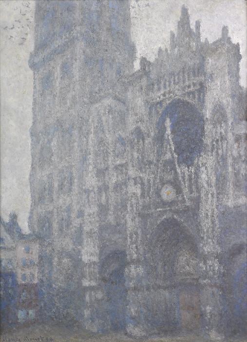 Cathédrales 1789-1914. Un mythe moderne : Claude Monet, La Cathédrale de Rouen. Le Portail et la tour d'Albane. Temps gris, 1894 © C. Lancien - C. Loisel / Musées de la Ville de Rouen