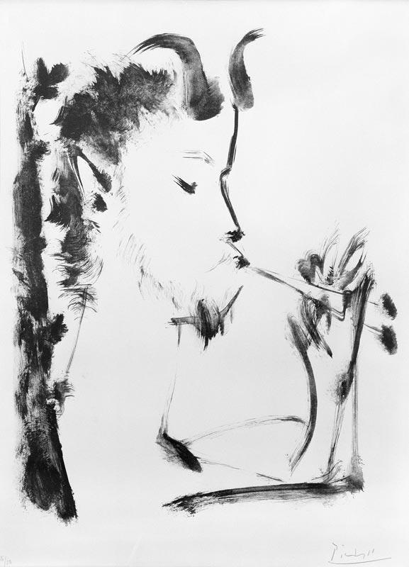 Une collection particulière, la Fondation de Treilles : Pablo PICASSO Pan, 1948 Lavis sur zinc Ex/26 /50 Inv. 990.177 Acquis à New York © Succession Picasso 2011