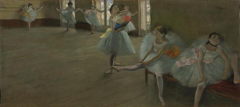 La collection Clark à Giverny, de Manet à Renoir : Edgar Degas, Danseuses au foyer, c. 1880, huile sur toile, 56 X 35 cm. © Sterling and Francine Clark Art Institute, Williamstown, Massachusetts, USA. Photo Michael Agee