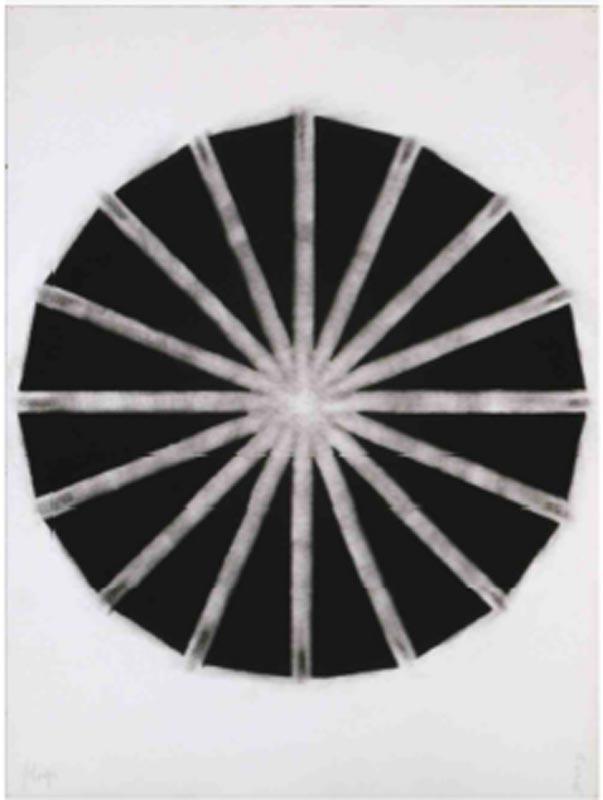 Contours : Najia Mehadji Coupole 2 Craie sur papier 76 x 57 cm 1993 - 1994