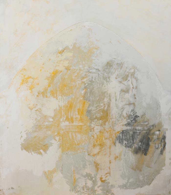 Coude à Coude : Fouad Bellamine, Sans titre, technique mixte sur toile, 2009, 160 x 140 cm