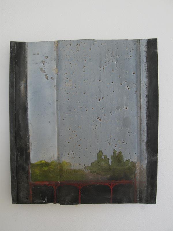 Coude à Coude : René Schlosser, La mort de Didon, acrylique et crayon sur zinc et sur châssis, 30 x 26,4 cm