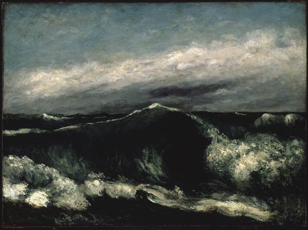 Gustave Courbet : Gustave Courbet La vague, ca. 1869 Huile sur toile, 65,4 x 88,7 cm Brooklyn Museum of Art, New York, gift of Mrs. Horace Havemeyer