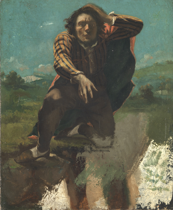 Gustave Courbet : Gustave Courbet , Le fou de peur ou le désespéré, 1843 , Huile sur toile, 60,5 x 50,5 cm  The National Museum of Art, Architecture and Design, Oslo, Testamentary Gift 1947 from Mr. and Mrs. P.H. Matthiessen  © Nasjonalmuseet for kunst, arkitektur og desig