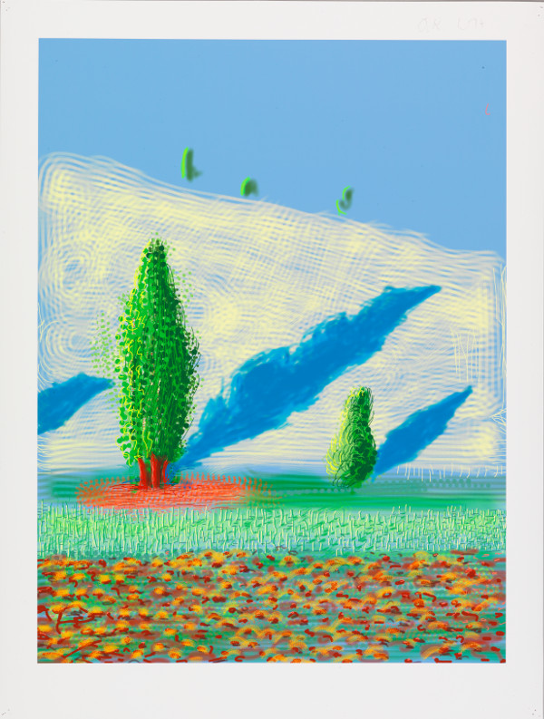 David Hockney : David Hockney The Yosemite Suite No.10, 2010 iPad drawing printed on paper. Edition of 25 94 x 71 cm
