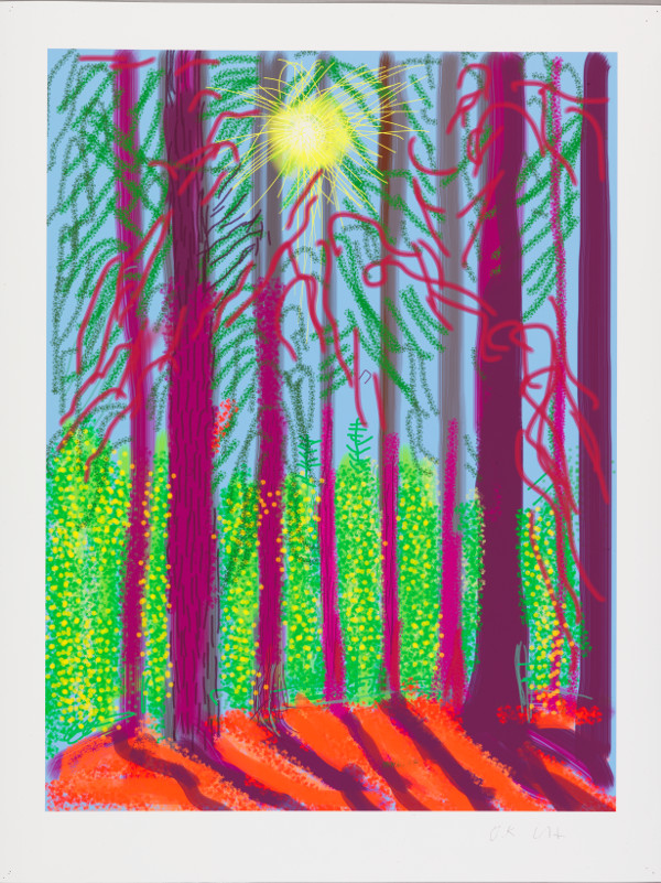 David Hockney : David Hockney The Yosemite Suite No.4, 2010 iPad drawing printed on paper. Edition of 25  94 x 71 cm