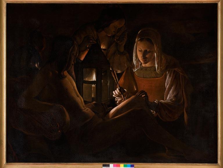 Déclics! - Photographies du FRAC Centre au Musée des beaux-arts d'Orléans : Saint Sébastien soigné par Irène d'après Georges de La Tour