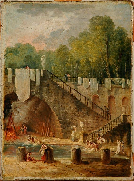 Déclics! - Photographies du FRAC Centre au Musée des beaux-arts d'Orléans : Lavandière dans les jardins d'une villa italienne
