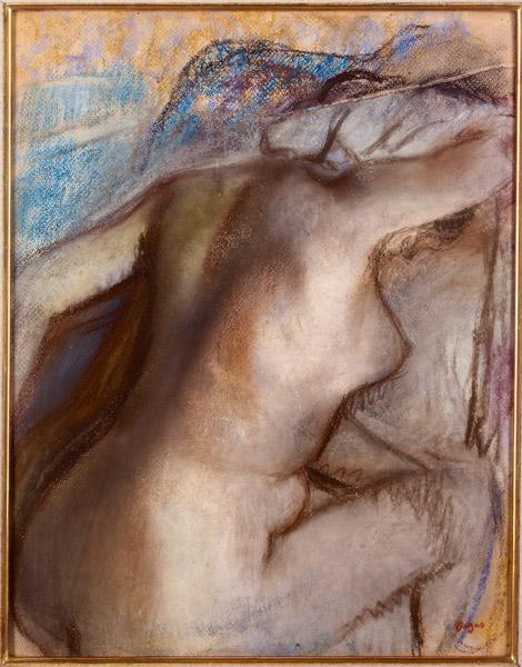 Degas et le nu : Après le bain, femme s'essuyant, vers 1884, Pastel sur papier vélin, 40,5 x 32 cm, Le Havre, Musée André Malraux, © Photo Florian Kleinefenn