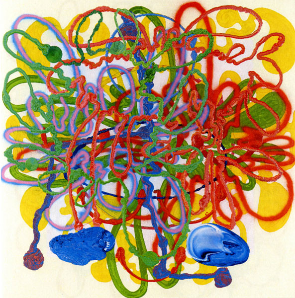 Dominique Gauthier - Le Poème, Devant, Allez vers, 2001-2011 : D.Gauthier, Sans titre, Série Oratorios, 2007, 205x200cm