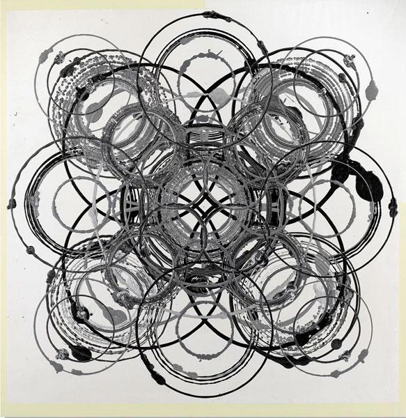 Dominique Gauthier - Le Poème, Devant, Allez vers, 2001-2011 : G.Gauthier, Sans titre, Série Cantos noirs, 2008, Technique mixte, 205 x 200 cm