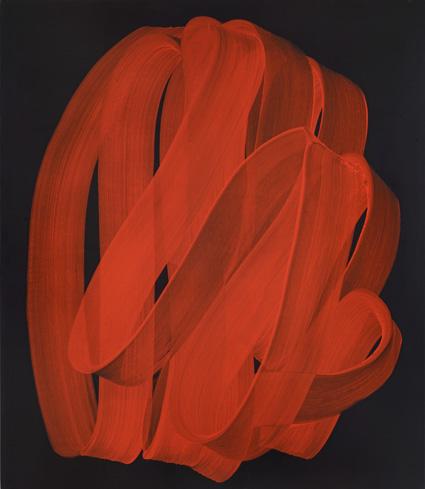 Najia Mehadji – Mystic Dance : Drapé (d'après l'Espolio du Greco), 2012, acrylique sur toile, 190 x 165 cm