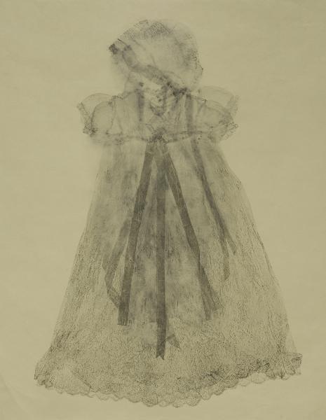 Éloïse Van der Heyden. Zakhar : Promesse, 2014 - monotype sur papier Japon - 122 x 78 cm