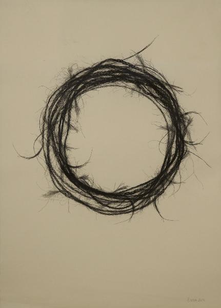 Éloïse Van der Heyden. Zakhar : Couronne #2, 2014 - monotype sur papier Japon - 43,5 x 59 cm