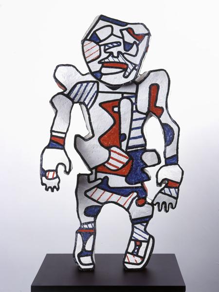 Everybody : juillet - décembre 1973. Époxy peint au polyuréthane, 88 x 48 x 20 cm. Collection Fondation Dubuffet, Paris © Fondation Dubuffet / ADAGP, Paris 2016
