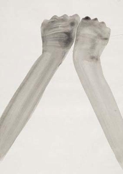 Ponctuation 3 / Encres : Silvia Bächli, Sans titre de l'ensemble : Numbers, 1999, Gouache sur papier Velin, 31 x 22 cm, Coll Frac Picardie