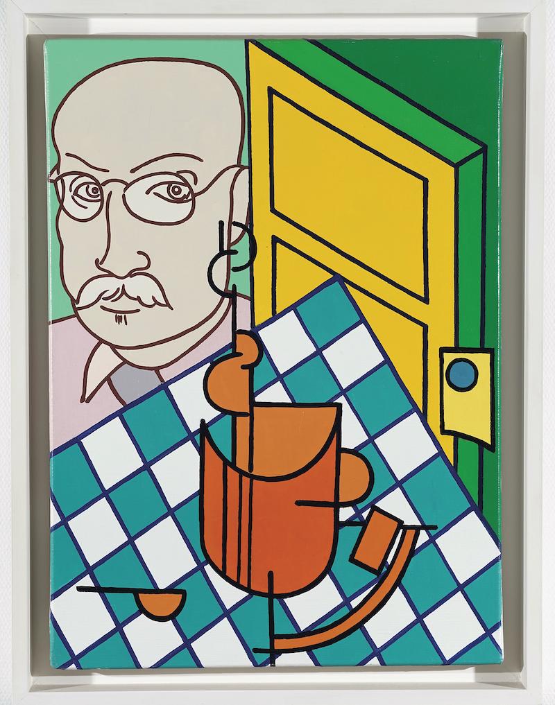 Tout va bien, monsieur Matisse : Erró Portrait de Matisse, 1986 Acrylique sur toile 46,5 x 33,5 cm collection particulière ©photo Droits Réservés © ADAGP, Paris, 2020