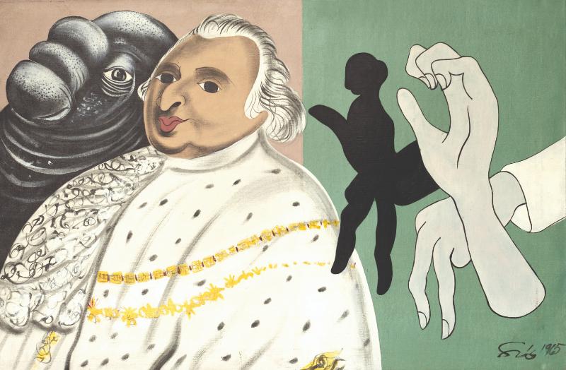 Figurez-vous… Adami, Erró, Guyomard, Klasen. : Erro-Shadow of the Sade-1965 © Cristel Editeur d'Art - Emilie Hautier