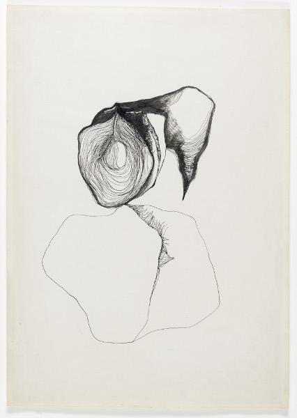Alina Szapocznikow - Sculpture Undone, 1955-1972 : Étude pour une sculpture 5, 1963 Encre sur papier ; 42 x 27,9 cm Courtesy Estate Alina Szapocznikow / Piotr Stanislawski / Galerie Loevenbruck, Paris  © ADAGP, Paris. Photo Fabrice Gousset