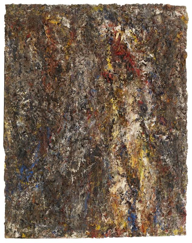 Les dernières peintures d'Eugène Leroy : Nu, 1995 Huile sur toile 146 x 114 cm