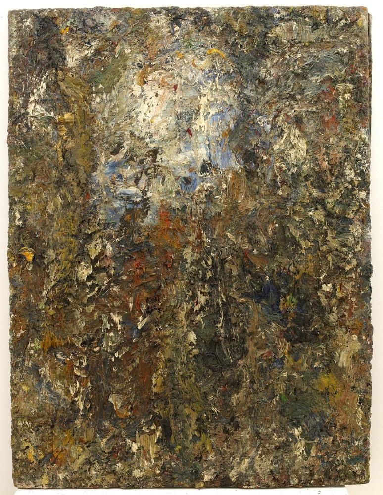 Les dernières peintures d'Eugène Leroy :  Figure, 1990 Huile sur toile 130 x 97 cm