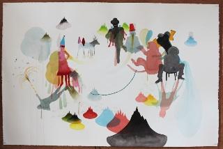 Fabula Graphica 3 : Gabrielle Manglou, Les démangeaisons féeriques, 2011, 80 x 121 cm. Collection de l'artiste, Saint-Denis de la Réunion.