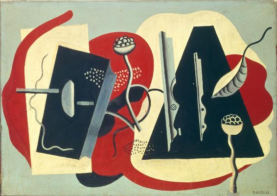 Fernand Léger : reconstruire le réel : Fernand Léger, Nature Morte, 1928, Huile sur toile, 65,5 x 91,5 cm, Paris, Fondation Le Corbusier © FLC /ADAGP, Paris, 2014
