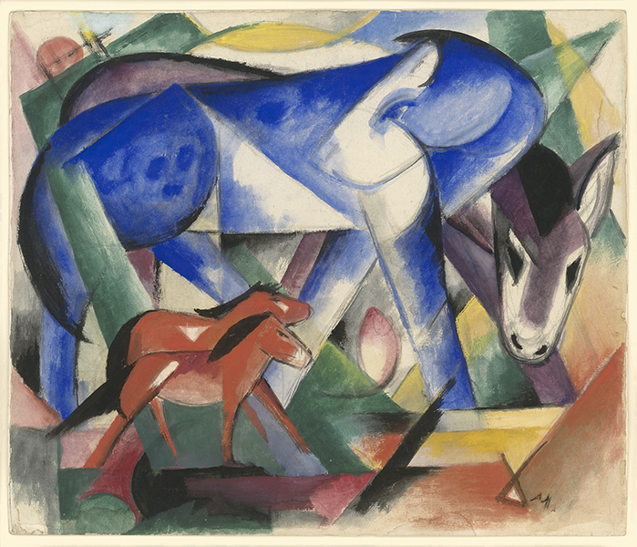 Franz Marc, August Macke. L'Aventure du cavalier bleu : The First Animals, 1913, Gouache and pencil on paper Private Collection, courtesy Neue Galerie New York © Neue Galerie, New York
