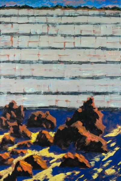 Frontalité, approches du paysage : Guy de Malherbe. Sans Titre. huile sur toile. 130x197cm. 2013. © Galerie Vieille du Temple.