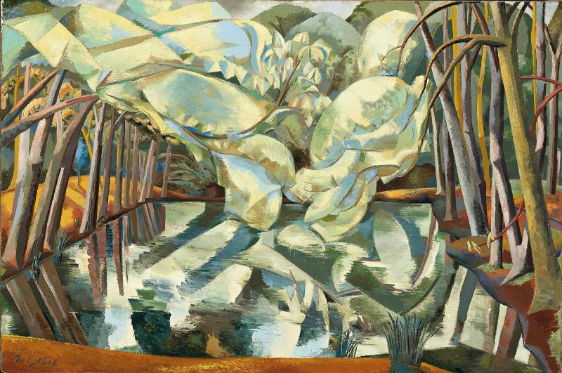 Au-delà des étoiles. Le paysage mystique de Monet à Kandinsky : Paul Nash, Châtaigniers d'eau, 1923, retravaillé en 1938, Huile sur toile, 102,5 x 153,2 cm Ottawa, Musée des beaux-arts du Canada, don de la Massey Collection of English Painting, 1946, inv. 4792 Photo © MBAC