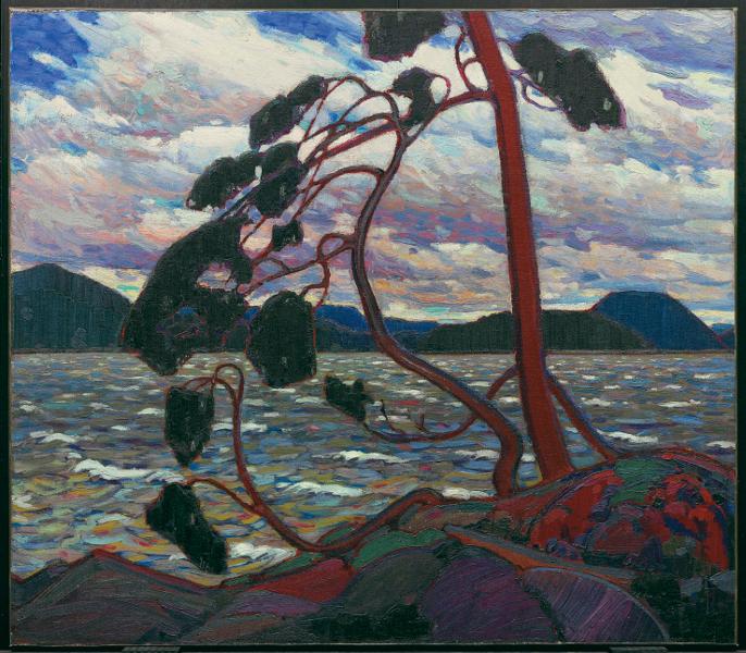 Au-delà des étoiles. Le paysage mystique de Monet à Kandinsky : Tom Thomson, Le Vent d'ouest, 1916, Huile sur toile, 120,7 x 137,9 cm Toronto, Art Gallery of Ontario, don du Canadian Club of Toronto, 1926, inv. 784 © Art Gallery of Ontario