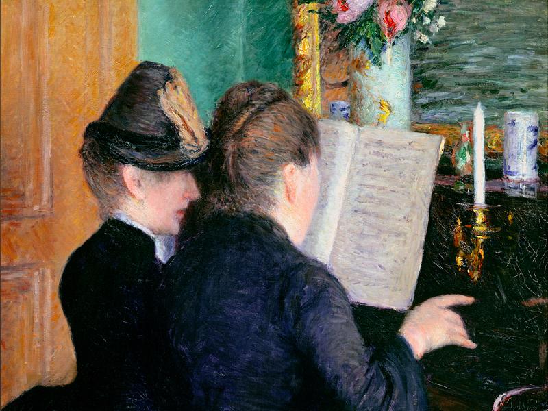 Gustave Caillebotte, impressionniste et moderne : La Leçon de Piano, vers 1889 Huile sur toile, dim. 81cm x 65cm Musée Marmottan Monet, Paris © Christian Baraja