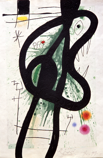 Joan Miró, l'Arlequin artificier : Joan Miro, Grand Carnassier, 1969, Collection Fondation Maeght
